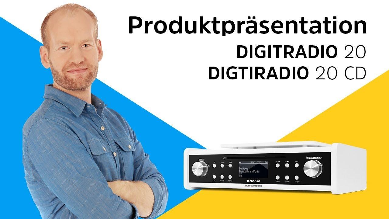 Video: DIGITRADIO 20 / 20 CD | Unterbau-Digitalradio mit und ohne CD-Player. | TechniSat
