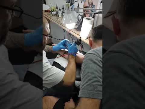 Dude getting his first tattoo in Beirut