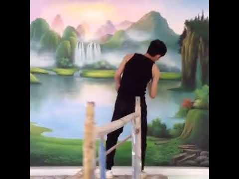 vẽ tranh tường, Vẽ trần mây   biên hòa đồng nai -0966.581.851