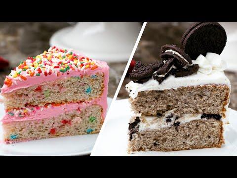 Three Ways To Bake An Ice Cream Cake •Tasty