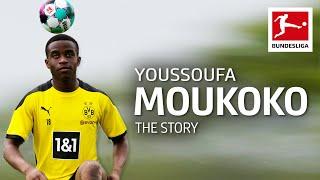 Moukoko's incredible stats: 141 goals in 88 games at youth level► sub now: https://redirect.bundesliga.com/_bwcsborussia dortmund's youssoufa moukoko turns 1...
