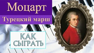 Как сыграть Турецкий марш Моцарта на фортепиано (How to play Turkish March Mozart piano)