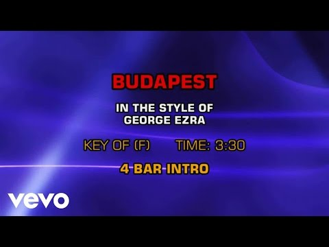 George Ezra - Budapest (Karaoke Smash Hits Vol. 1)
