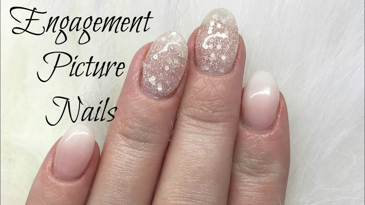 Watch Me Work : Engagement Picture Nails - YouTube