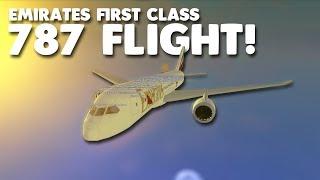 emirates first class 787 flight   roblox