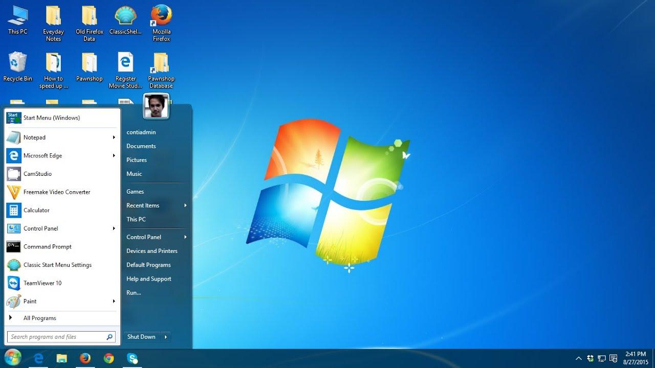 How to Make Windows 10 looks like Windows 7 - YouTube