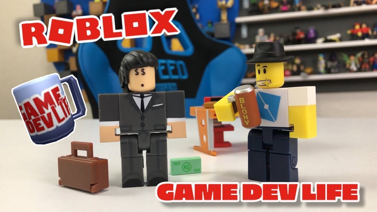 Robloxtoys Game Dev Life Unboxing 2 Figure Game Pack Roblox Toy