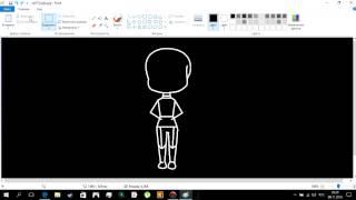 Как нарисовать тело Санса в( Paint)(По просьбе моего подписчика сняла видео на тему