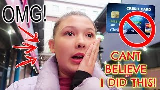 TEENS FIRST NIGHT OUT ON HER OWN - DISASTER WITH DADS CREDIT CARD!