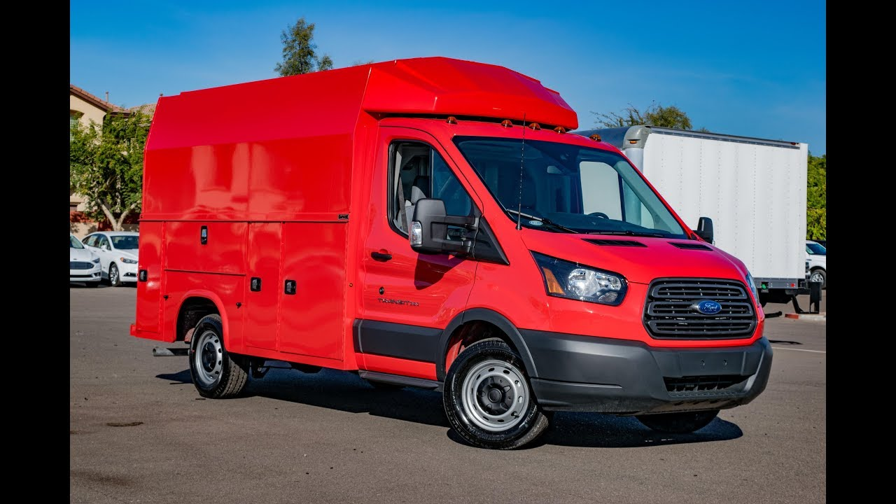2018 Ford Transit T-350 Knapheide KUV Race Red - YouTube