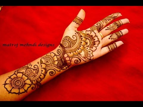 Latest Arabic Mehndi Designs For Full Hands
