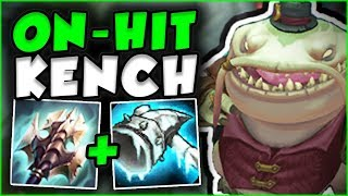 ON-HIT TAHM KENCH! THE UNSTOPPABLE KENCH BUILD! TAHM KENCH TOP GAMEPLAY! - League of Legends