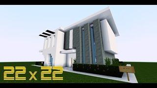 Minecraft Lüks Ev Yapımı - 22x22