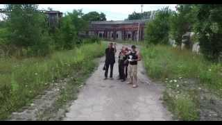 Drone Fly-by - Recon Abandoned Train Yard (Drone meets three locals)
