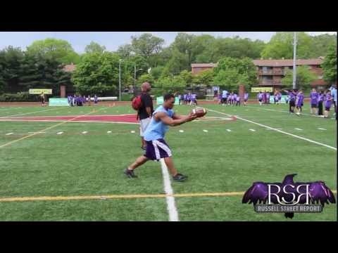 Ray Rice punts football over 55 yards!