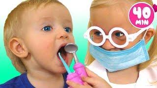 Dentist Song Spanish Version +otras | Colección de las mejores Canciones Infantiles con Katya y Dima