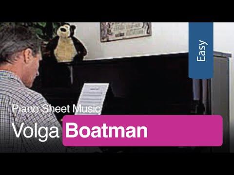 Free Sheet Music   Volga Boatman for Easy Piano