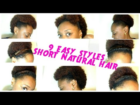 9 BACK TO SCHOOL hairstyles for SHORT NATURAL HAIR | QUICK and EASY! The Curly Closet
