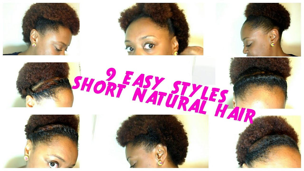 easy styles for short natural hair 9 back to school hairstyles for hair the 4728 | maxresdefault