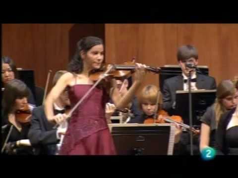 Ana Maria Valderrama with Zubin Mehta. Mozart violin concerto nº 3, 1 Movement