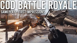 Call of Duty Battle Royale Gameplay + Impressions