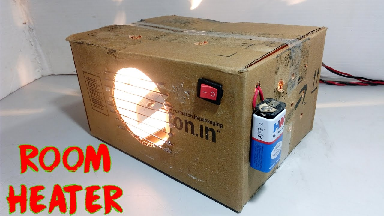 how to make room heater at home youtube
