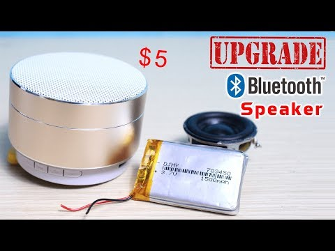 How to Upgrade $5 Bluetooth Speaker | Increase Bass and Battery Life