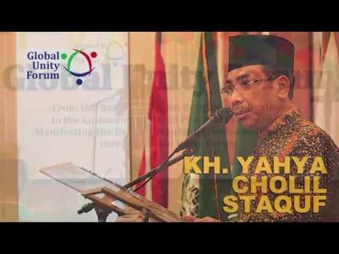 KH. Yahya Cholil Staquf, opening address, Global Unity Forum, Jakarta