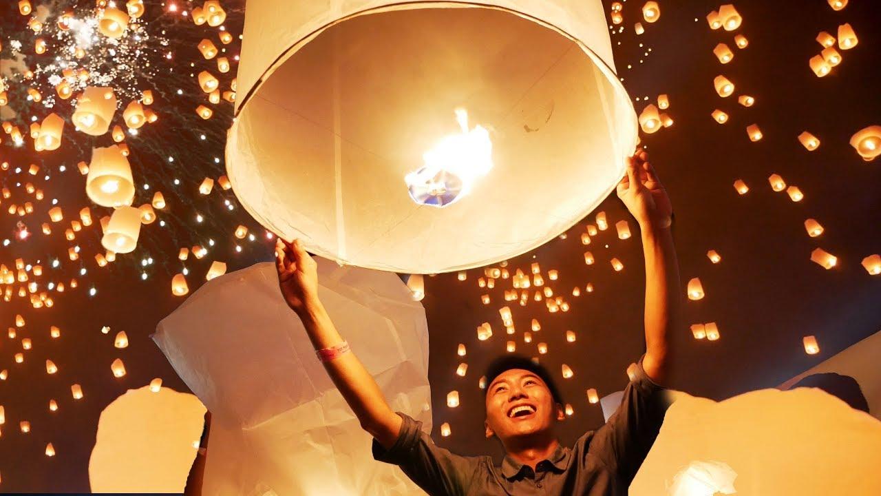 Đẹp không tưởng lễ hội vạn đèn trời |Du lịch Chiang Mai Thái Lan #7