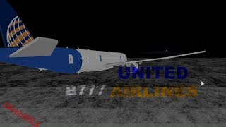 ROBLOX United Airlines Boeing 777 Investor class!