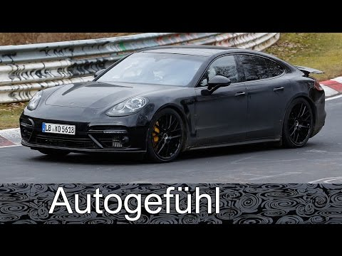 2017 Porsche Panamera all-new 2nd generation spy shots camo car Erlkönig neu