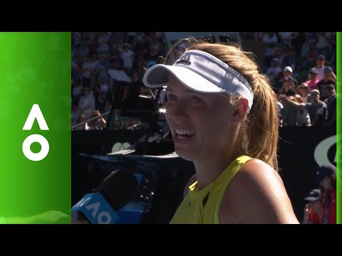 Caroline Wozniacki on court interview (2R)   Australian Open 2018