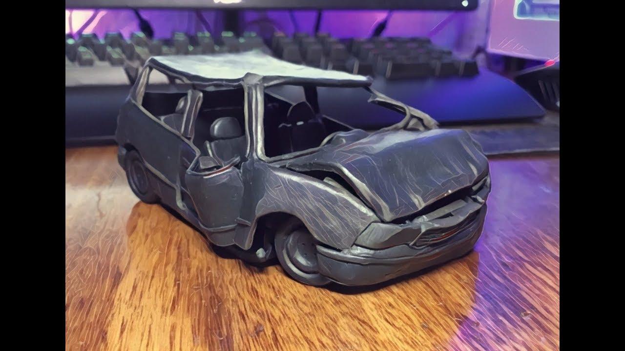 Краш тест машины из пластилина, BeamNg Drive Crash test