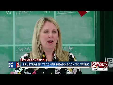 Teacher vocal about walkout discusses why she decided to go back to work on Tuesday