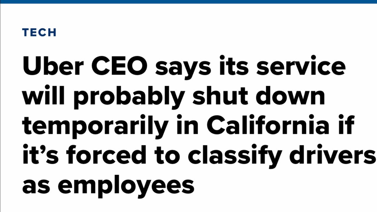 Uber Drivers In California Might End Up Getting Deactivated