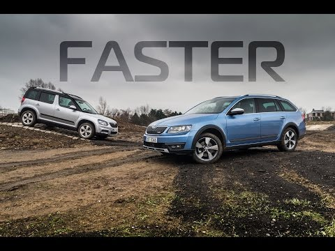 Videotest: Škoda Octavia Scout 2.0 TDI vs Škoda Yeti 2.0 TDI 4x4