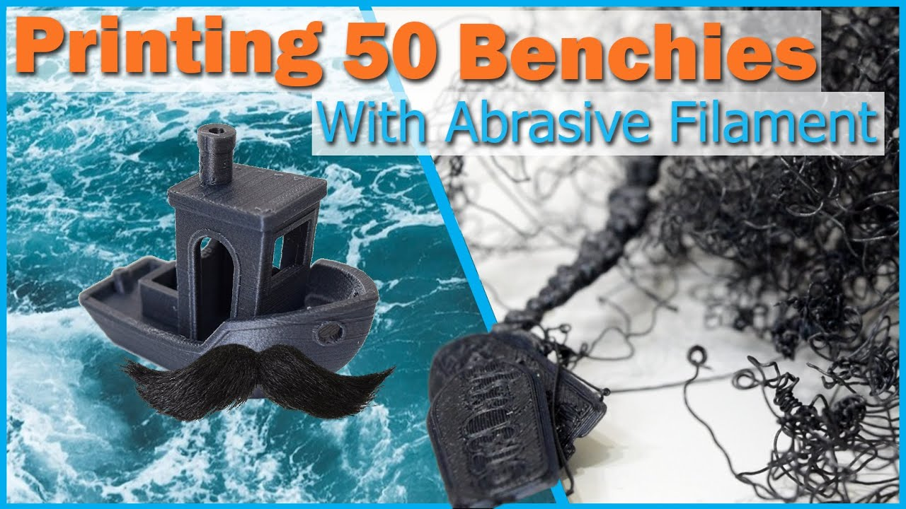 3D Printing 50 Benchies with Abrasive Filament   Brass Nozzle Torture Test