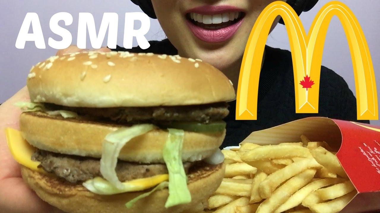 Asmr Mcdonalds Big Mac No Talking Eating Sounds Sas Asmr