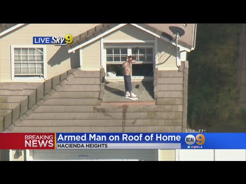 Police In Standoff With Man On Roof In Hacienda Heights