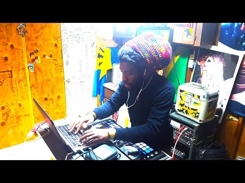 IBA MAHR -  PLAYING MUSIC AND VOICING DUBS IN TLAB STUDIO -2016