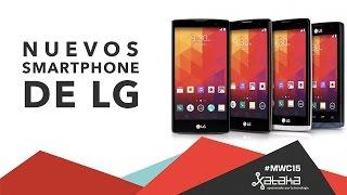 Nuevos Smartphone de LG Joy, Spirit, Lion y Magna - MWC 2015