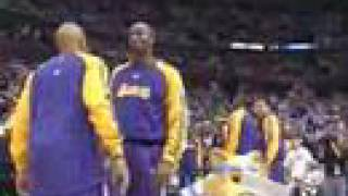 rocky nuggets mascot messes with the lakers chuck