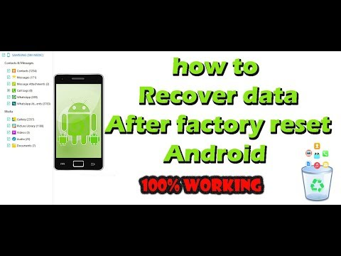 How To Recover Lost Data After Factory Reset In All Android 100% Working  Android Data Recovery