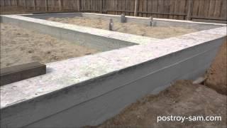 видео Мелкозаглубленный ленточный фундамент: монолитный, армированный