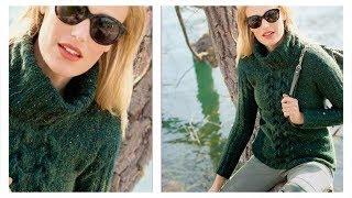 Пуловер с «косой»