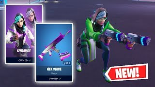 NEW SYNAPSE Skin and HEX WAVE Wrap Gameplay in Fortnite!