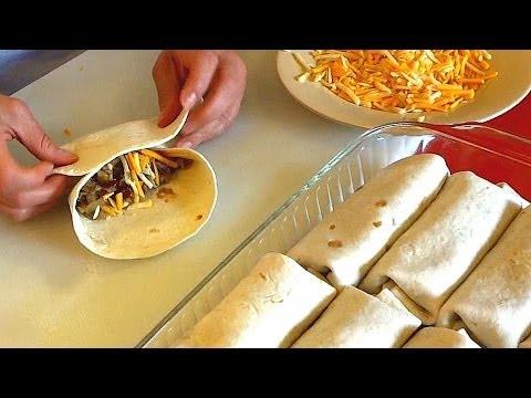 Burrito Recipe - How to make Burritos Family Style