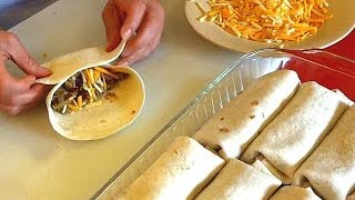 Burrito Recipe - How To Make Burritos Family Style