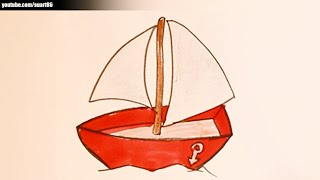 How to draw a boat for kids