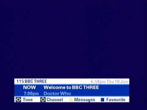 CBBC Channel Closedown/BBC Three Start-up, Thursday 10th January 2008